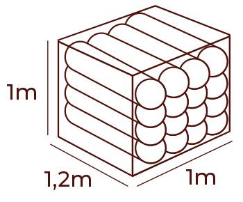 stos metr kwadratowy drewno do kominkow drewno kominkowe