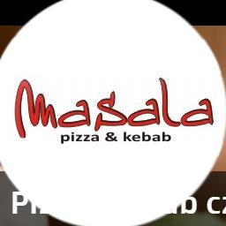 masala kebab logo pizza
