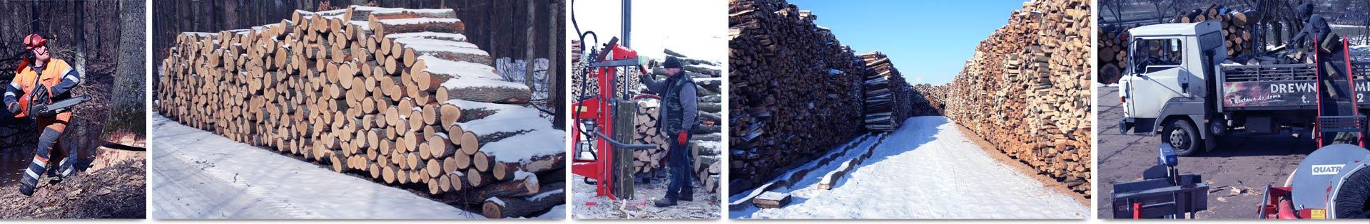 drewno stosy transport zaladunek lublin